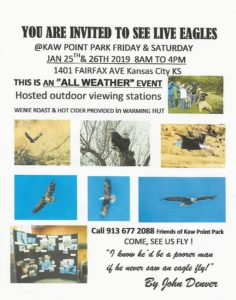 See Live Eagles at Kaw Point Park on 1/25 and 1/26 @ Kaw Point Park | Kansas City | Kansas | United States